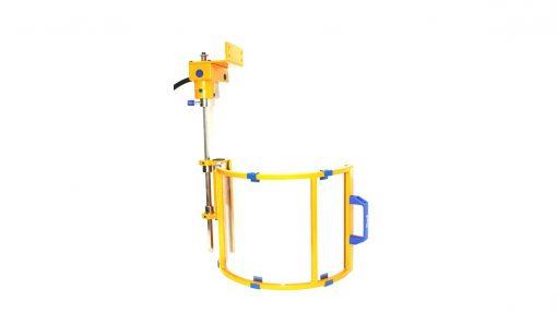 interlocked guard for radial drills
