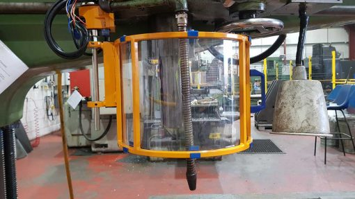 interlocked drilling machine guard