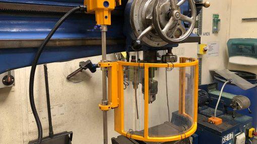 workshop radial drill machine safety guard