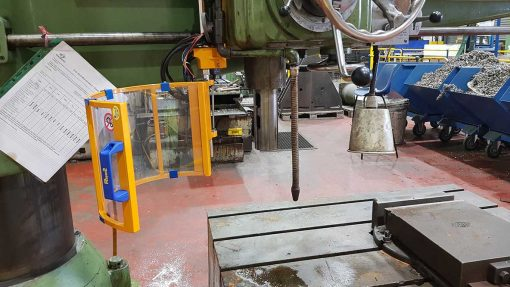 safety guard for radial drills