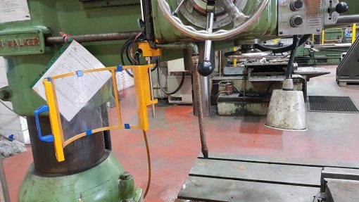 kitchen walker radial drill with an interlocked safety guard