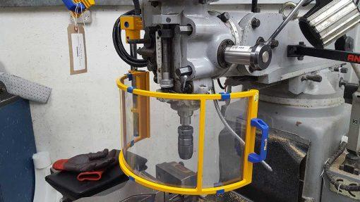 curved milling machine guard