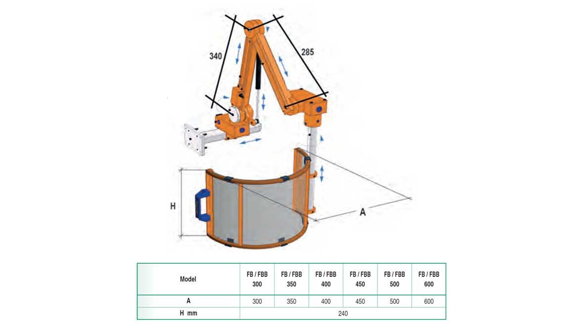 Repar2 FBB Milling Machine Guard Drawing
