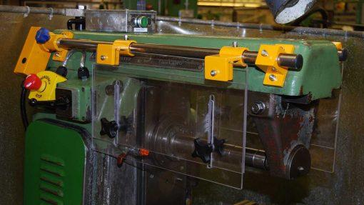 safety yellow milling machine guard
