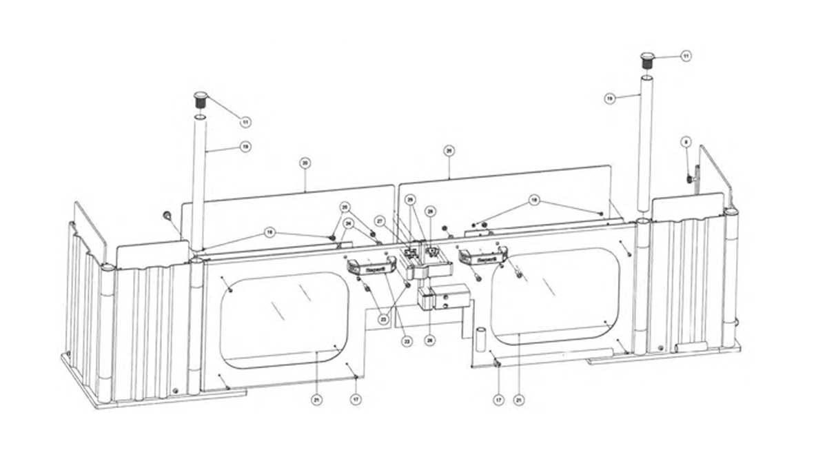 Repar2 FT Milling Machine Guard Drawing