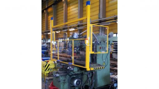 counterbalanced milling machine guard