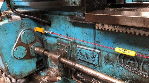 lang lathe emergency stop device