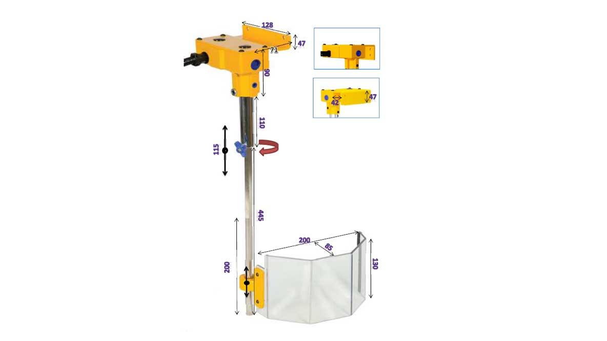 Repar2 TR7 Drilling Machine Guard Drawing
