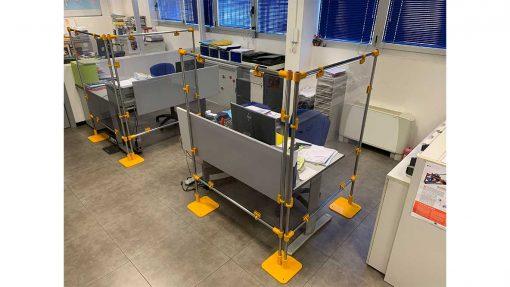 heavy duty desk protections screens