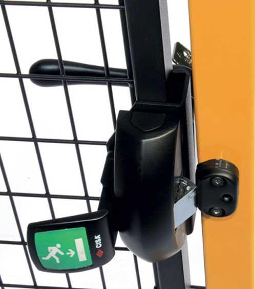 Anti panic key lock for perimeter guarding