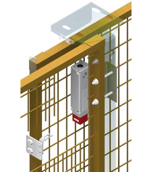 Electric lock for sliding perimeter guards