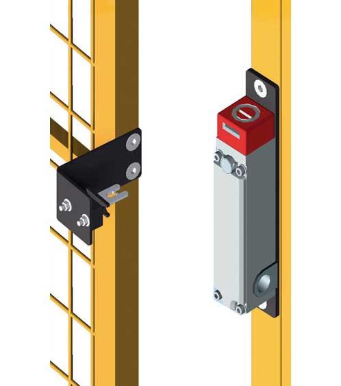 Electric lock for perimeter guarding