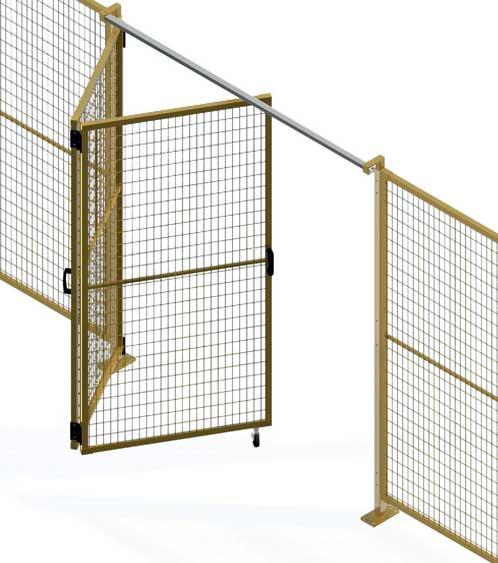 Perimeter guarding folding door