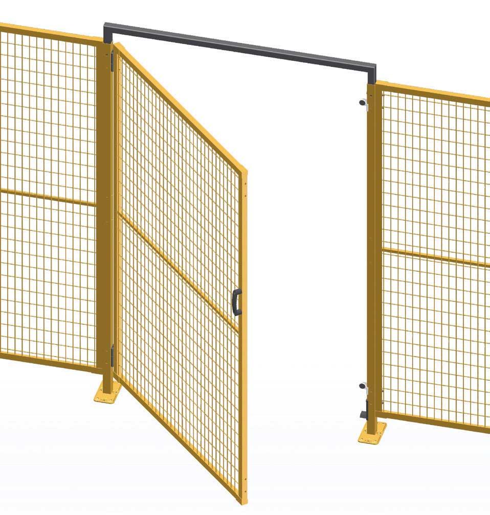 Single hinged door - perimeter guarding