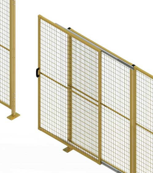 Telescopic door perimeter guarding