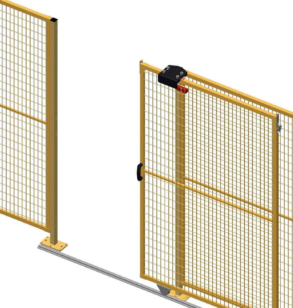 Single sliding door to ground Perimeter Guarding