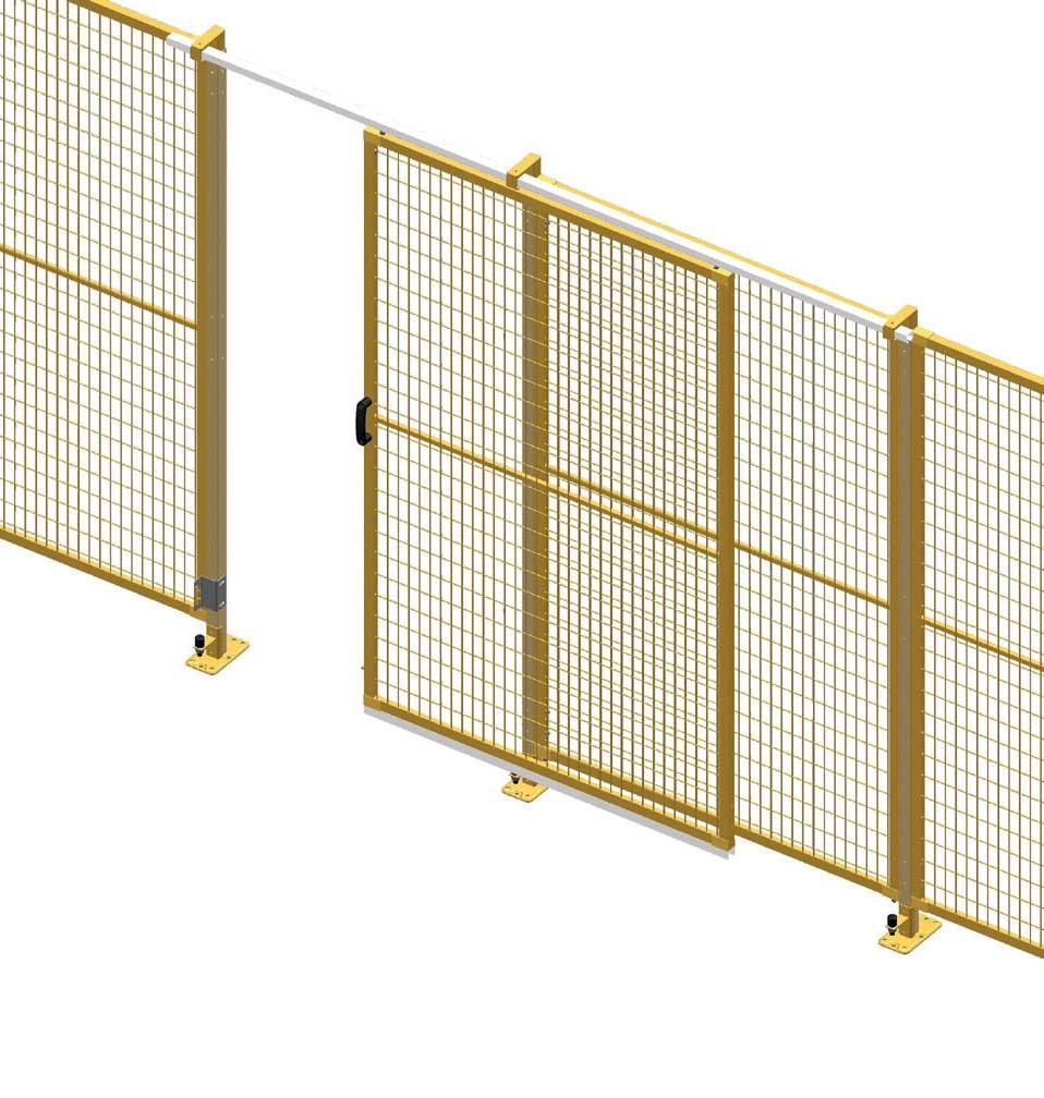 Suspended Single Sliding Door Perimeter Guarding