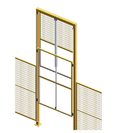 Vertical sliding door automatic perimeter guarding