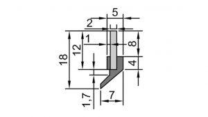VAJ A6 Wiper Seal Profile