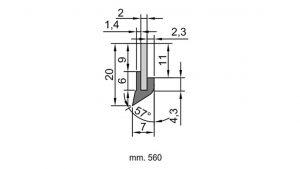 VAJ N2 Slideway wiper seal profile